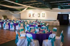 Purple and turquoise wedding.