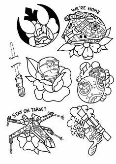 Dibujos Star Wars como tatuajes