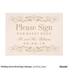 Vintage Wedding Reception Love is Sweet Sign Scroll Wedding Invitations, Vintage Wedding Invitations, Guest Book Sign, Wedding Guest Book, Guest Books, Invitation Paper, Invitation Templates, Invites, Ceremony Signs