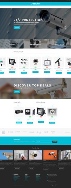 Securax - Security Equipment Store Responsive OpenCart Template #63622