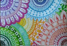 Zentangle (rainbow colors)