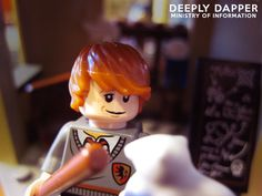 8x10 - Ron And Scabbers - Lego Harry Potter - Fine Art Photograph - Color Portrait via Etsy.