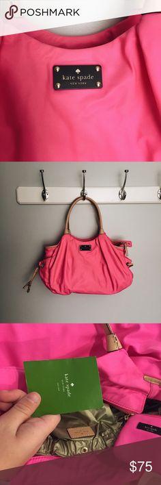 Kate spade diaper bag Bright pink Kate spade diaper bag- or purse! kate spade Bags Baby Bags