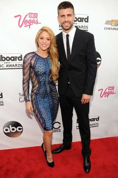 Shakira on the red carpet at the 2014 Billboard Music Awards