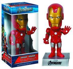 Cabezón Los Vengadores 2012 (The Avengers). Iron Man, Wacky Wobbler. Funko