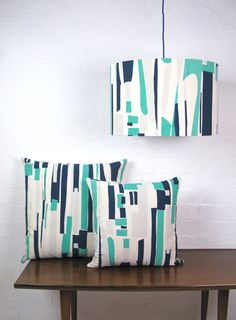 Info Specifications Scottish linen is hand screen printed by Tamasyn and her team in London. Textiles, Textile Patterns, Print Patterns, Cushion Pads, Cushion Covers, Printed Cushions, Nuno Felting, Minimalist Art, Abstract Print
