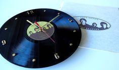 THE BEATLES Record Clock (Love Songs) with 26 page lyrics booklet