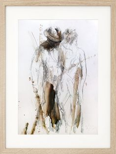 Charcoal sketch, Original artistic drawing, Couple, Figurative Wall art, Modern artwork, Wall decor, Man and woman, Figures, Graphic art by IvMarART on Etsy