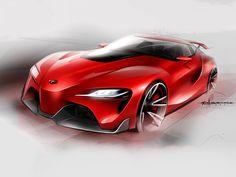 Toyota FT-1 Concept - Design Sketch - Car Body Design