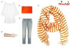 NOMADE - Spring 2014 Outfit with stripe scarf Zarauz