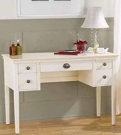 Tips for renovating furniture. Gorgeous white desk! Caitlin Creer Interiors