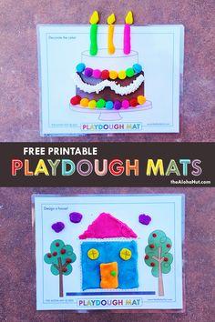 Playdough Activities, Fun Activities For Toddlers, Preschool Learning Activities, Preschool Activities, Kids Learning, Birthday Charts, Kids Schedule, Homemade Playdough, Free Printables