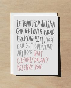 Funny Anti Valentine Card / Break up card / Best friend card / pink greeting card by WellSaidCreations on Etsy https://www.etsy.com/listing/261577667/funny-anti-valentine-card-break-up-card
