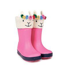 Cream Llama Rain Boot Liners | JoJo Maman Bebe