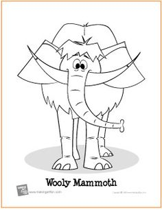 wooly mammoth free coloring page httpmakingartfuncomhtm