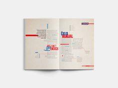 Doble de revista tipográfica on Behance
