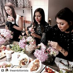 #Repost @theambitionista Not in the best mood today but I had such a fun time yesterday learning how to create a delicate floral arrangement with @squarerootdesigns the official florist for @beverlywilshire (check their stunning creations at the hotel). Thank you @theambitionista @eclatprla @thecharmingplum @saffrononrose for this amazing experience.