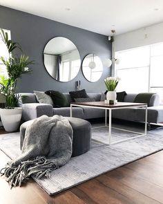 Living Room Decor Cozy, Living Room Modern, Living Room Grey, Home Living Room, Apartment Living, Interior Design Living Room, Cozy Living, Grey Livingroom Decor, Small Living Rooms