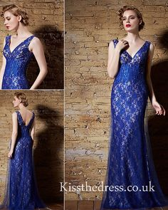 blue lace mermaid v-