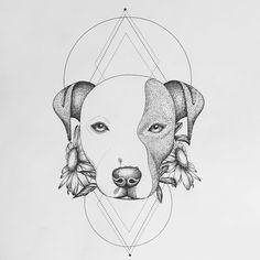 tattoo design for @suserana you have the cutest pitbull ever!