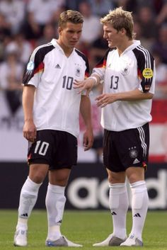 Poldi  Schweini, World Cup 2006. Look how cute they were (and still are)!
