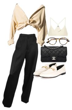 """""""Untitled #23247"""" by florencia95 ❤ liked on Polyvore featuring Chanel, Christian Dior, Gucci and Base Range"""