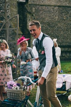 Groom Waistcoat Chinos Quaint Pretty Village Fete Wedding http://katherinemager.com/