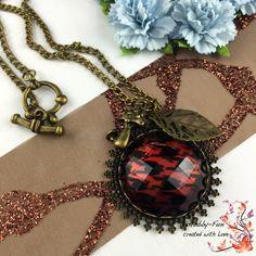 """Halskette """"Marsala - Bronze"""" #1120 von Hobby-Fun/kreative Schmuckideen auf DaWanda.com"""
