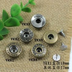 Click Our Letters Rivets Gallery to See More Style and Color . Jeans Button, Make Color, Vintage Buttons, Shake, Washer Necklace, Cufflinks, Giant Tree, Stud Earrings, Vip