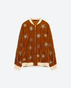 Image 8 of BOMBER JACKET WITH EMBROIDERED STARS from Zara