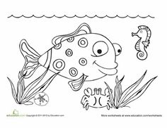 Worksheets: Sea Life Coloring Page Doodle Coloring, Coloring Pages, Colouring, Designs To Draw, Drawing Designs, Coloring Letters, Ocean Scenes, Life Drawing, Sea Creatures