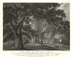 Love these beautiful architectural engravings by Hearne/Byrne    Kent, Allington Castle, 1783