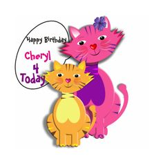 Happy Birthday Cute Pussy Cats Party Decor Photo Cut Outs (£23) found on Polyvore