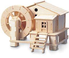 Water Wheel Woodcraft Kit di Costruzione