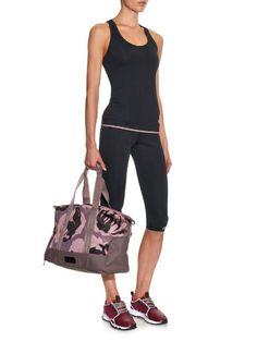 Adidas By Stella McCartney Camouflage-print nylon gym bag