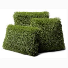 Turf pillows...funky outdoor decor.  The back is striped.  Even better.