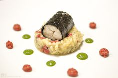 Falk Kulinarium Praline von der Seezunge auf Goji-Risotto - Falk Kulinarium