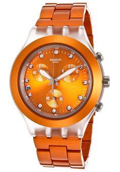 Women's Irony Chronograph Orange Dial Orange Aluminum