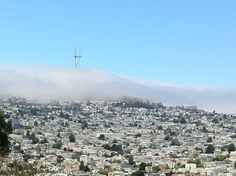 Fog rolling in over Twin Peaks - San Francisco Faves by the San Francisco Locals Guide