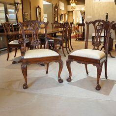 Set Of 10 Mahogany Chippendale Ball And Claw Traditional Dining Chairs  #31000 #JansenFurniture Traditional