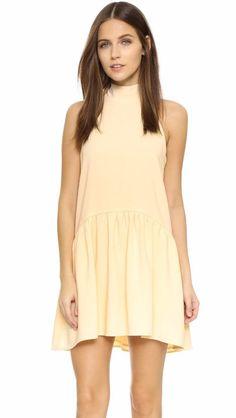 $395 Elizabeth and James Almond Tiered Shift Baby Doll Trisha Dress L NWT E365 #ElizabethandJames #Shift #Cocktail