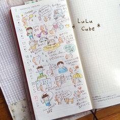 で、weeksにまとめると、こんな感じに(*^_^*) #ほぼ日手帳weeks #ほぼ日 #ほぼ日手帳 #lulucube #hobonichi