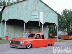 Orange 1989 Ford Ranger.