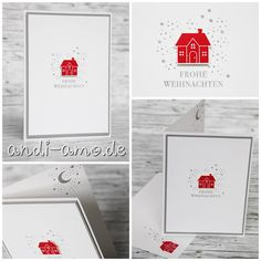 andi-amo: Schnelle Weihnachtskarte mit dem Stampin Up Stempelset Weihnachten Dah… andi-amo: Fast Christmas card with the Stampin Up stamp set Christmas home Simple Christmas Cards, Christmas Napkins, Stampin Up Christmas, Xmas Cards, Christmas Crafts, Diy Crafts Love, Craft Stick Crafts, Paper Crafts, Winter Crafts For Kids