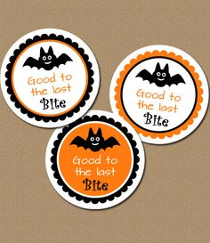 Make your Halloween candy Good to the Last Bite! $5.00  #stickers