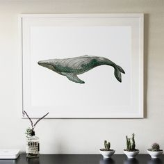 Two kinds of Whale abstract modern decorative 40X50CM painting watercolor paintings minimalist Home Furnishing jewelry(