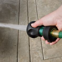 """Bon Aire """"Ultimate"""" Hose Nozzle turns any standard garden hose into a multifunction spray tool."""