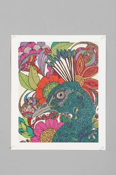 Peacock print by Valentina Ramos on Urnan Outfitters