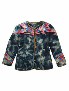 peruvian tie dye vest