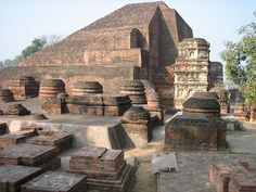 Ruins of Nalanda University established by Emperor Ashoka, Bihar